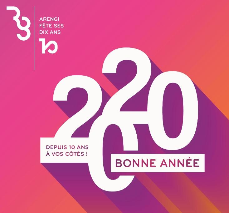 Arengi vous souhaite une bonne année 2020